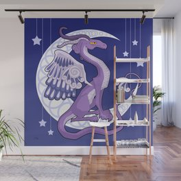 Vendel Dragon - the moon Wall Mural