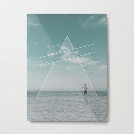 Paddle Triangle Metal Print