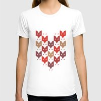 foxes T-shirts featuring Foxes  by creaziz
