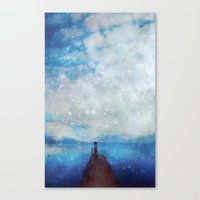sleep Canvas Prints featuring Sleep by  Maʁϟ