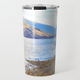 Little Tree at Buttermere, Lake District UK Watercolour Painting Travel Mug