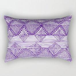 Abstract blue digitised hand drawing art Rectangular Pillow