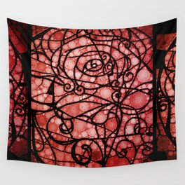 Scarred Rose Wall Tapestry