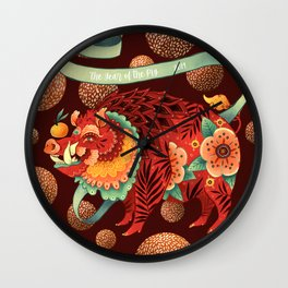 The Year of the Pig 2019 Wall Clock