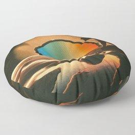 Sunset meditate Floor Pillow