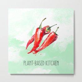 Plant-Based Kitchen Chili Metal Print