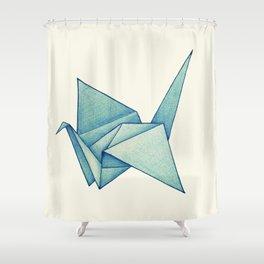High Hopes | Origami Crane Shower Curtain