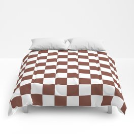 Checkered (Brown & White Pattern) Comforters