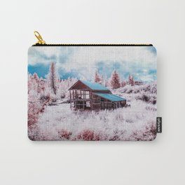 Old Barn In The Frost, Idaho Carry-All Pouch