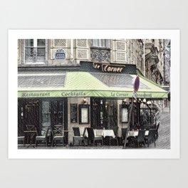 Paris - Restaurant Art Print