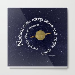 Nothing Exists Metal Print