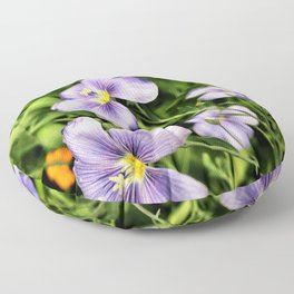 Springtime Flowers Floor Pillow