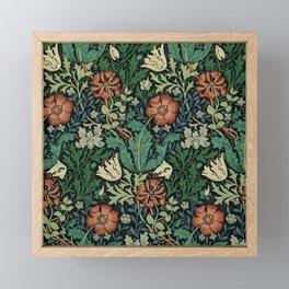 William Morris Compton Floral Art Nouveau Pattern Framed Mini Art Print