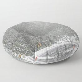 Down the Summit Floor Pillow