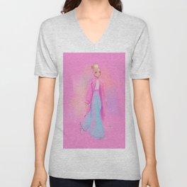 Fashion Sketch no 2 Unisex V-Neck