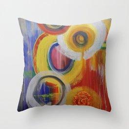 Feeling Circular Throw Pillow