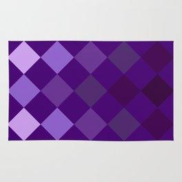Purple Argyle Pattern Rug