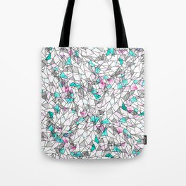 Pink and Teal Abstract Watercolor and Geometric Tote Bag