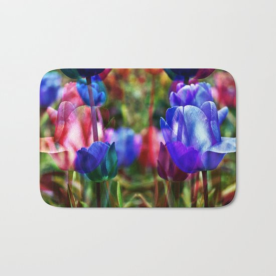 A Floral Dream of Spring Bath Mat