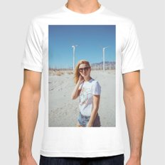 Palm Springs Windmills Mens Fitted Tee White MEDIUM