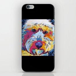 Goldendoodle or Labradoodle Pop Art Dog Portrait iPhone Skin