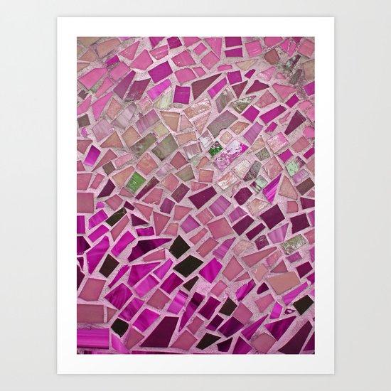 Little Pink Tiles Art Print