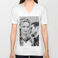 twilight V-neck T-shirts featuring Twilight by Irène Sneddon