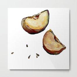 apple slices Metal Print