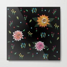 Digital Flora Metal Print