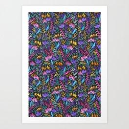 Wonderland Flower Pattern Art Print