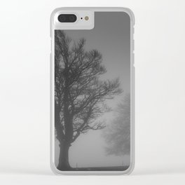 Morning Mist Trees - Landscape Photography Clear iPhone Case
