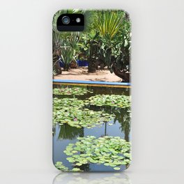 majorelle lily pond iPhone Case