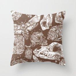 Bones in Brown Throw Pillow