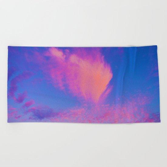 Pink clouds Beach Towel