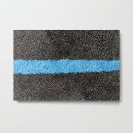 Black Blue Lawn Metal Print