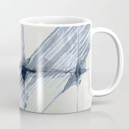 Simply Wabi-sabi in Indigo Blue on Lunar Gray Coffee Mug