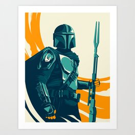 """Mando"" by Matt Kehler Art Print"