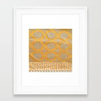 orange pattern Framed Art Prints featuring OrangE paTTern by ''CVogiatzi.