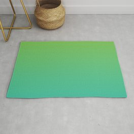 Green and Teal Gradient Rug