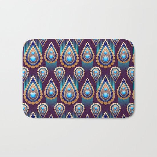 Turkish Blue Bath Mat