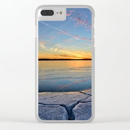 Sunset Crack 2 Clear iPhone Case