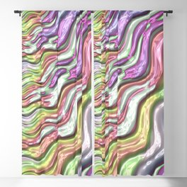 Colorful Waves Blackout Curtain