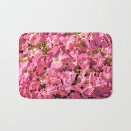 Vintage Pretty Pink Petunias Bath Mat
