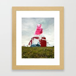 Bear Salute Framed Art Print
