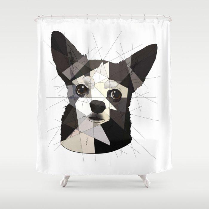 Black Chihuahua Shower Curtain