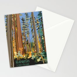 Vintage poster - Headwaters Forest Reserve Stationery Cards