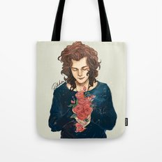 Roses on Your Hands Tote Bag