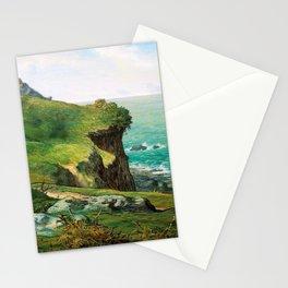 12,000pixel-500dpi - Jean-Francois Millet - Cliffs Of Greville - Digital Remastered Edition Stationery Cards