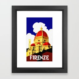 Firenze - Florence Italy Travel Framed Art Print