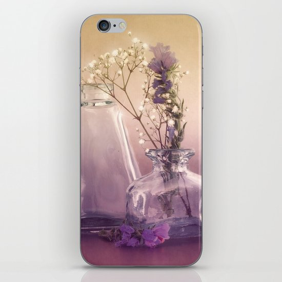 STILL LIFE with purple glass vases and flowers iPhone & iPod Skin